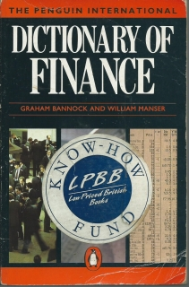 Dictionary of Finance - Graham Bannock, William Manser (anglicky)
